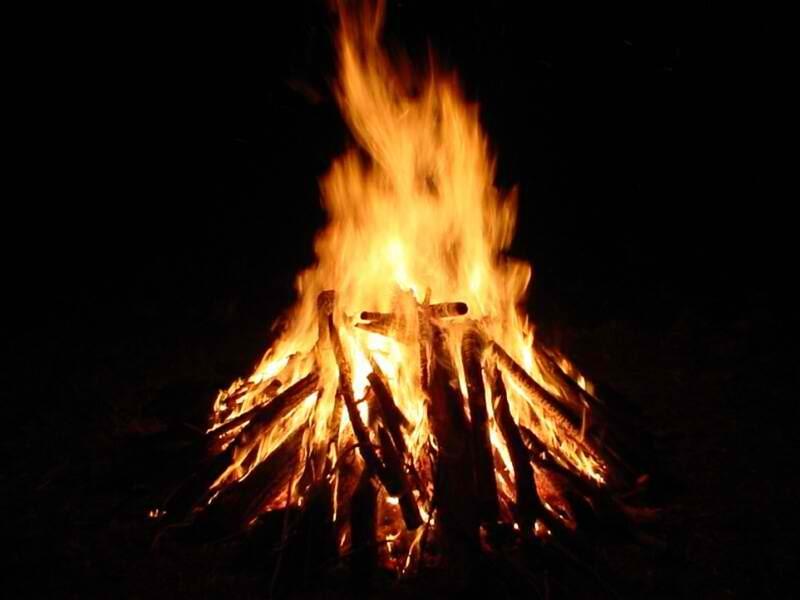 Using a campfire